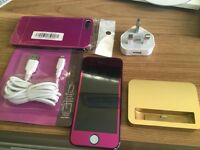 I phone 5 5s button purple special edition free extras