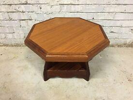 Retro Teak Octagonal Small Side Table/ Coffee Table- RARE!! 50s/60s