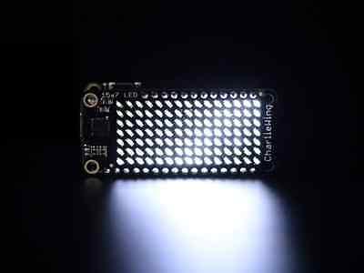 Adafruit 15x7 Charlieplex Led Matrix Display Featherwing - White