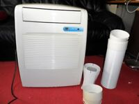 Portable Air Conditioner B&Q WAP-021EC with Remote Control, Vent Pipe & Fittings, & Manual