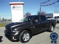 2014 Ram 1500 Crew Sport 4x4-Leather-Remote Start-Backup Camera