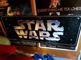 Rare Star Wars Promotional Double Sided Hanging Logo