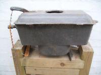 Old cast iron toilet cistern