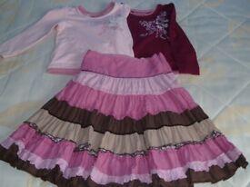Skirt and tops