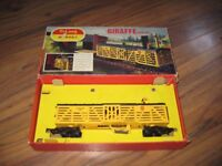 TRI-ANG HORBY GIRAFFE CAR SET