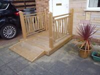 Wooden Platform/access for elderly