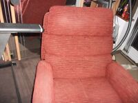 Electric recliner fabric armchair