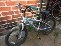 "Bike 18"" blue muddy fox boys cycle bicycle fully working just outgrown s8 can deliver small charge"
