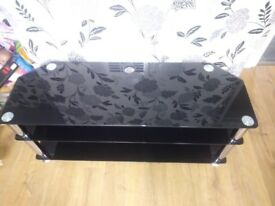 Black and silver tv unit for sale
