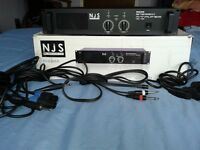 N J S Stereo amp 120w x 2 hardly used nr mint