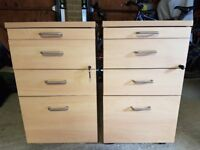Office Quality 4 Drawer Mobile Pedestals x2 - **Only 1 left!!**
