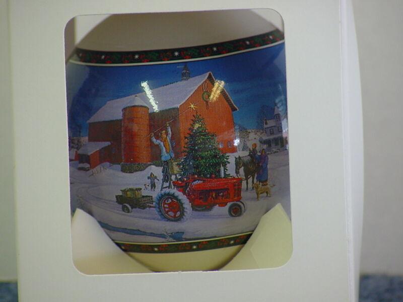 INTERNATIONAL HARVESTER CHRISTMAS GLASS BALL  ORNAMENT