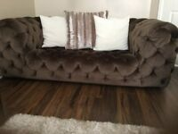 Dfs opulence 2 seater sofas (2) and storage foot stool