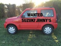SUZUKI JIMNY'S WANTED FOR CASH