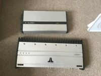 Jl audio 1000/1 amplifers for sale, pioneer champion series subwoofer and boss amp