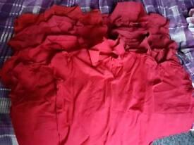 Children's red school t-shirts