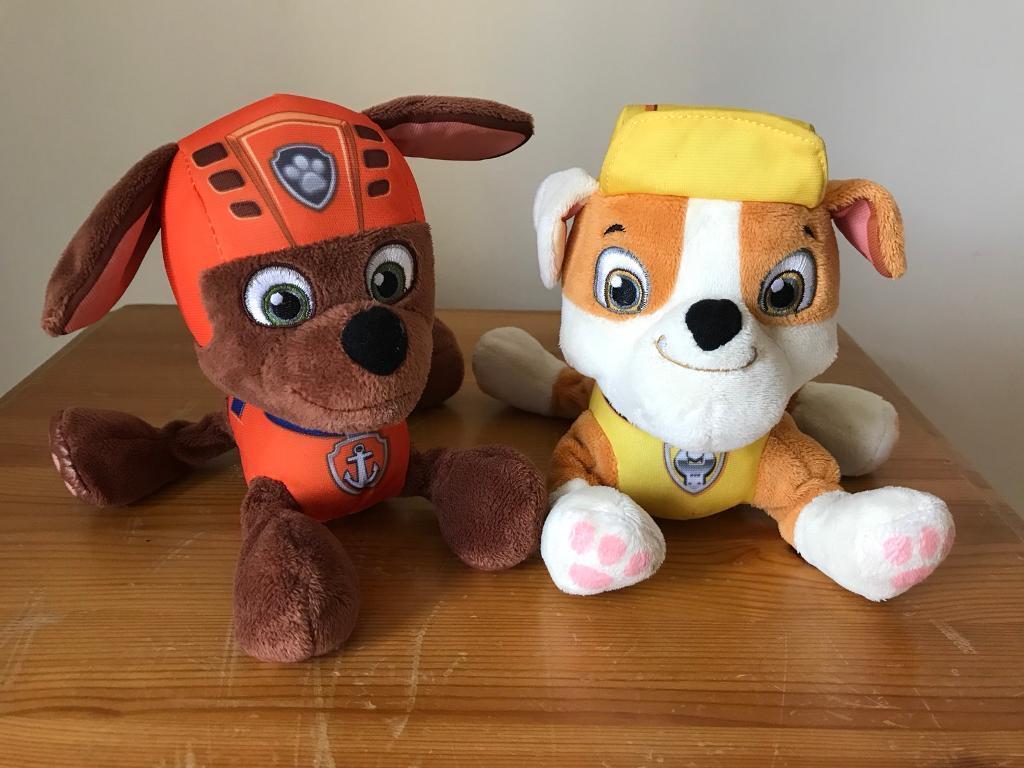 Paw Patrol soft toys- Zuma and Rubble