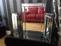 Modern Design Glass Venetian Dressing Table Mirror - NEW - Bevelle Edged - Dressing Table Mirror