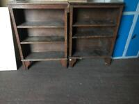 Hand Built Wooden Bookcases (pair)