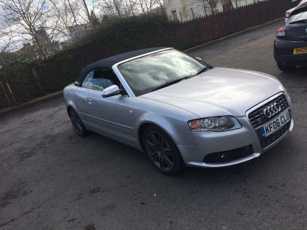 audi s4 cabriolet convertible 2006 facelift damaged repairable bmw m3 rs4 mercedes c63 px in. Black Bedroom Furniture Sets. Home Design Ideas
