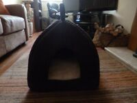 Kitten/cat bed/igloo. Brown