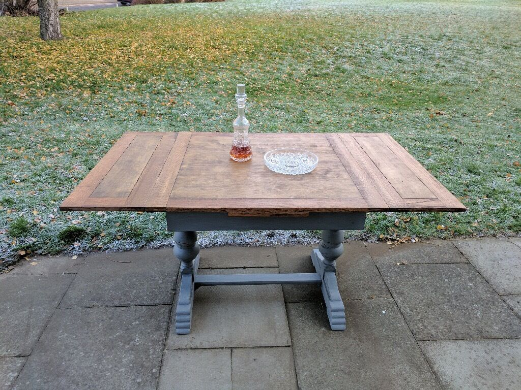 Vintage Extendable Dining Table Antique Vintage Draw Leaf Extendable Dining Table Rustic Shabby