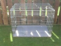 DOG CAGE X LARGE WITH METAL TRAY £40