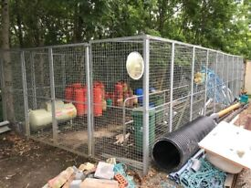 Large Galvanized Security Cage Compound LockUp Gas Bottle Store 11.51 x 4.90 x 2.43m