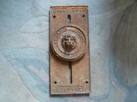 rare Victorian cast iron green house roof opener
