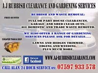 Rubbish clearance/house removals