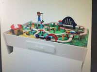 BRAND NEW STILL IN BOX - George Home Wooden Train Set And Table