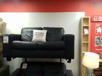 Black leather sofas (2 available)