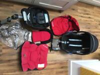 MaxiCosi Car seat, Isofix base and lots of accessories