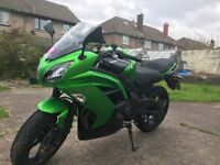 Kawasaki ER6F ABS Green 15plate 2015. Heated Grips, Scorpion Exhaust, Sat Nav