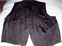 Black smart casual waistcoat size 12