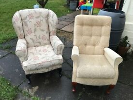2 Beautiful Armchairs for sale
