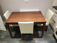 Kitchen dining table and 3 x chairs