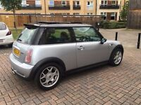 mini cooper S 1.6 turbo , low mileage 55k , glass roof , excellent condition