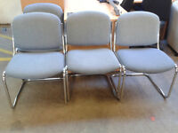 Set of 4 chrome office chairs
