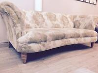 Luxury Dfs Concerto shabby chic style floral cream & gold sofa £1098 new can deliver