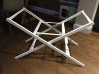 Mamas and papas Moses basket stand, good condition, white