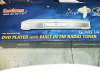 GOODMANS DVD PLAYER WITH BUILT IN FM RADIO TUNER (Unused & Boxed)