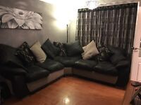 Large 5 seater corner sofa and cuddle chair for sale