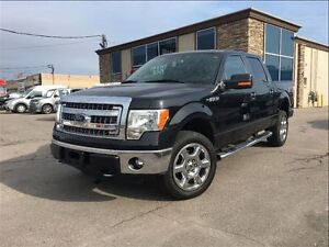 2014 Ford F-150 XLT 4WD LEATHER 20 CHROME JET BLACK FINISH