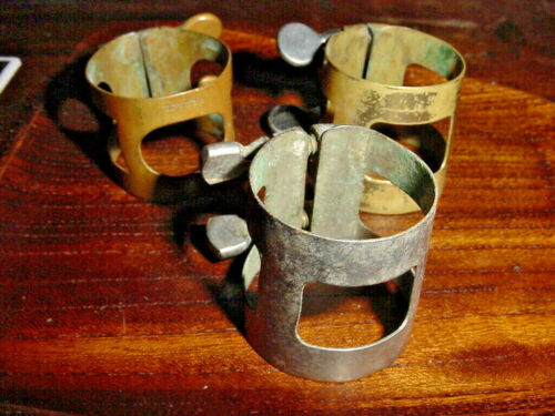 SAMPLER OF THREE VINTAGE ALTO SAXOPHONE LIGATURE S  MID CENTURY 50s/60s