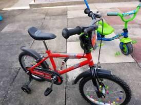"BMX style kids bike, 16"" wheels"