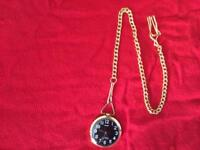 Vintage HMT 17Jewels Hand winding Movement Analog Dial Pocket Watch AU228-With Chain⏱