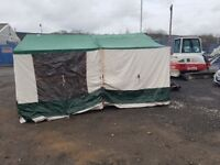 Conway Trailer Tent; 4 berth includes full awning, half awning, all interior curtains, stove,