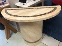 Half moon marble table