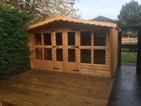 12x8 stunning 19mm log summer house